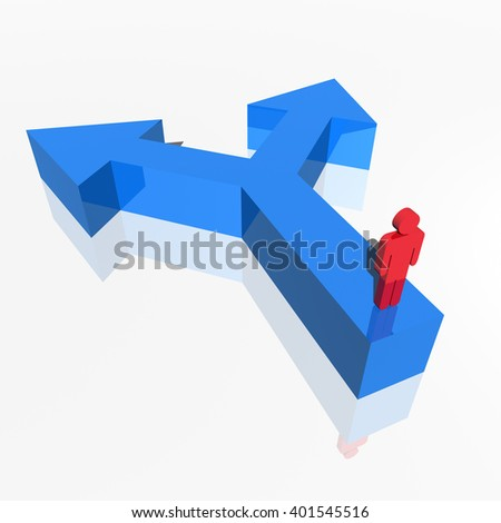 3d human figure searching for direction