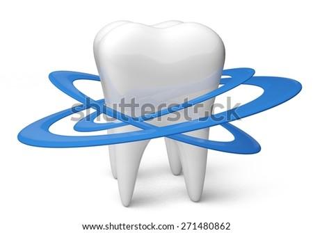 3D. Human Teeth, Dental Hygiene, Protection. - stock photo