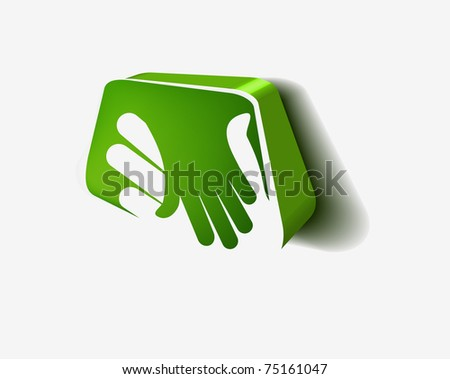 3d icon of shaking hands design. - stock photo