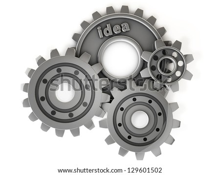 3d idea gear - stock photo