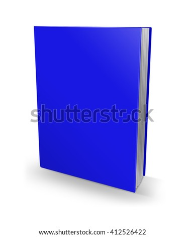 3d illustration blank square hardcover album template on white background