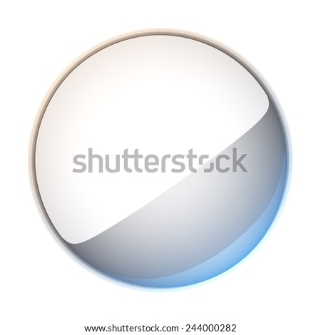 3d illustration blank template layout of empty white badge. Badge surface empty to place your text or logo. - stock photo