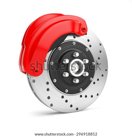 3d illustration: Brake disc on a white background