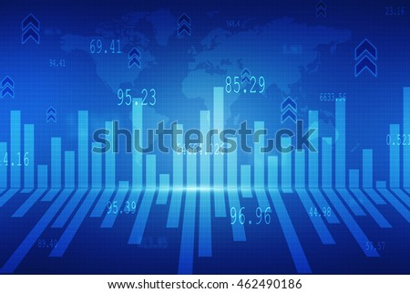2d illustration business graph background
