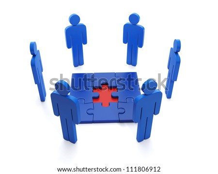 3d Illustration: Business ideas. Finding the right solutions, problem solving - stock photo
