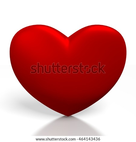 3D illustration/ 3D rendering - red heart shape - great for topics like Valentine's Day, love etc.