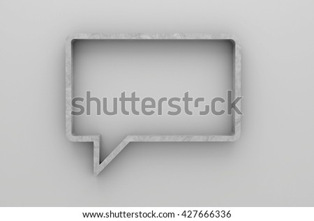 3D illustration , Empty bubbles shelves on gray background with downlight,empty shelves ready for product display montage - stock photo