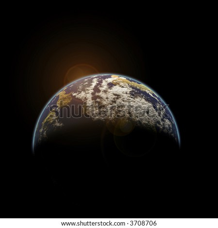3D Illustration : Environment. Global Warming - stock photo