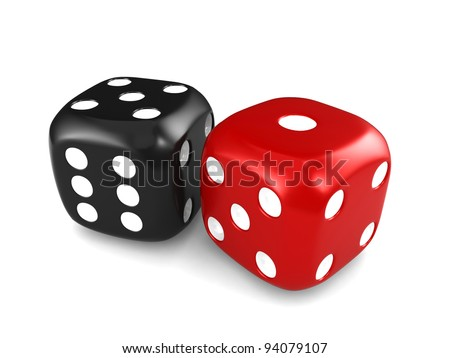 3D Illustration Featuring a Pair of Dice