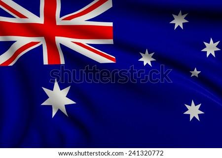 3d illustration flag of Australia - stock photo