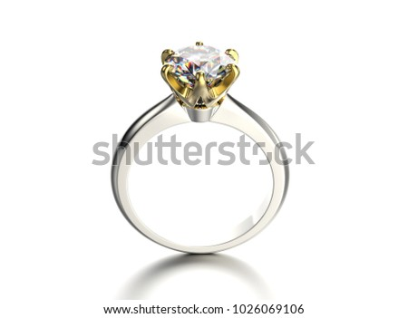 3D illustration gold ring with gemstone. Jewelry background. Fashion accessory