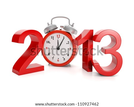 3d illustration: Holidays and events. Advent of the year 2013 - stock photo