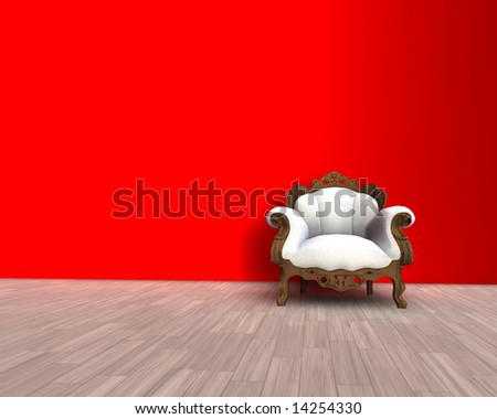 3D illustration - nice confortable old chair design - stock photo