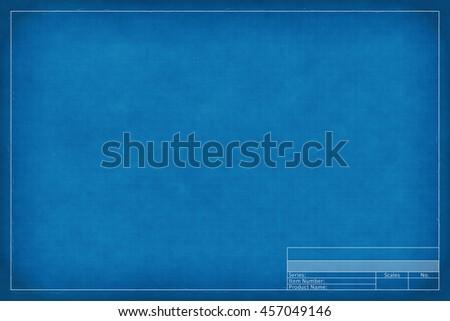 2d illustration of a blank blueprint - stock photo