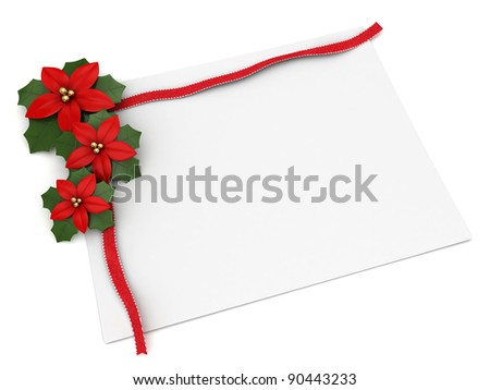 3D Illustration of a Board with a Christmas Design - stock photo