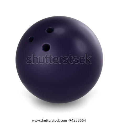 3D Illustration of a Bowling Ball - stock photo