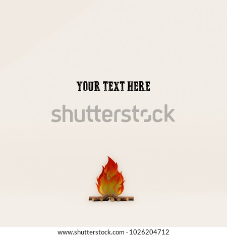 3d illustration of a campfire sign isolated