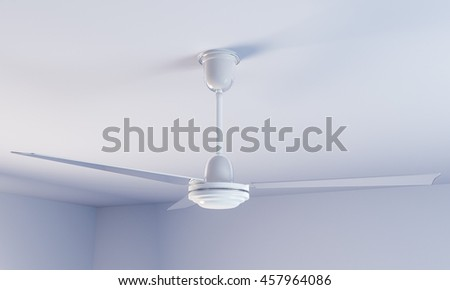 3d illustration of a ceiling fan - stock photo