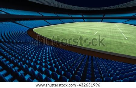3D illustration of a football stadium - stock photo