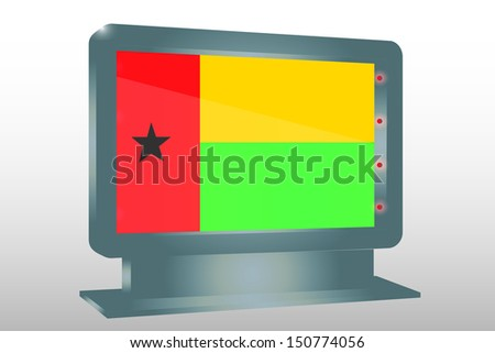 3D Illustration of a Glass Holder isolated with the flag of Guinea Bissau - stock photo
