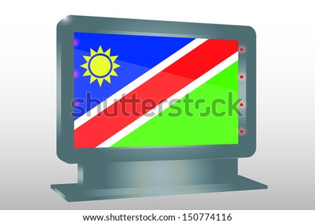 3D Illustration of a Glass Holder isolated with the flag of Namibia - stock photo