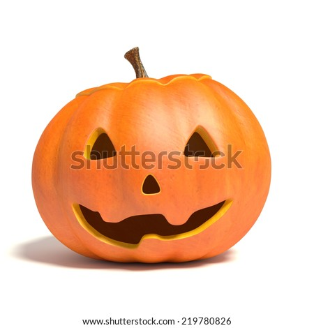 3d illustration of a jack-o-lantern