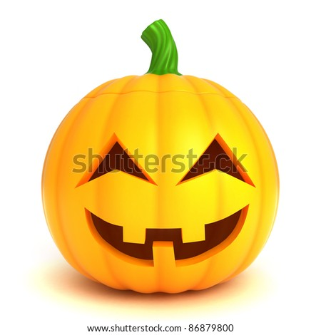 3D Illustration of a Jack-o-Lantern - stock photo