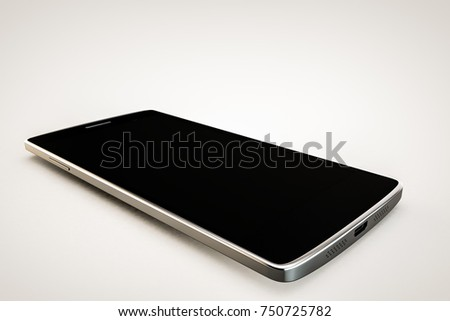 3d illustration of a modern smartphone isolated on white background