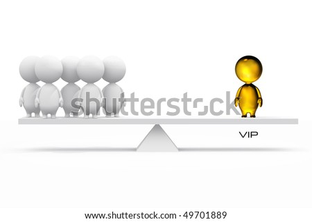 3D illustration of a VIP. - stock photo