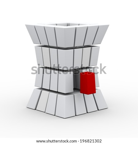 3d illustration of abstract structure design