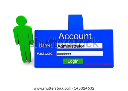 3D illustration of account icon