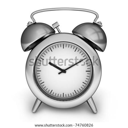 3D Illustration of an Alarm Clock - stock photo