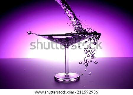 3d-illustration of an cocktail - stock photo