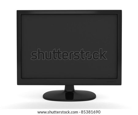 3D Illustration of an LCD/LED Monitor