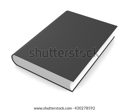 3d illustration of book isolated on white