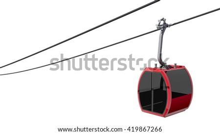 3D Illustration of Cableway
