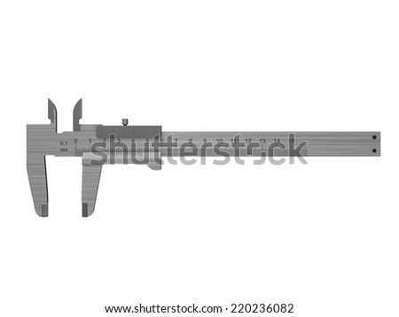 3d illustration of caliper isolated over white background - stock photo