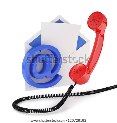 3d illustration of comunication concept. Isolated on white background - stock photo
