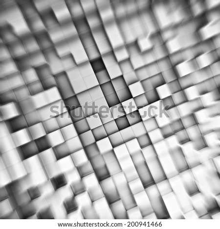 3d illustration of cube abstract background