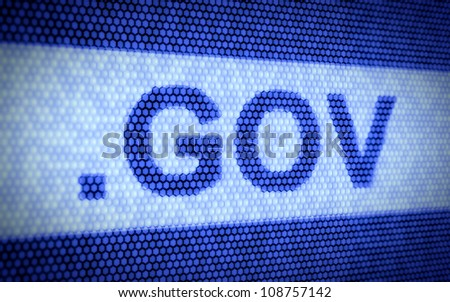 3d illustration of domain names and internet concept - stock photo