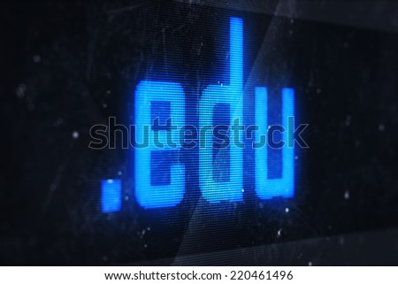 3d illustration of edu domain names and internet concept digital screen  - stock photo