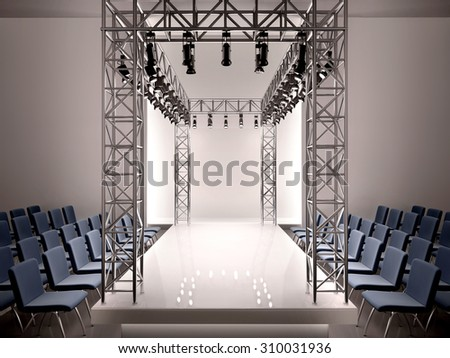 3d illustration of fashion catwalk