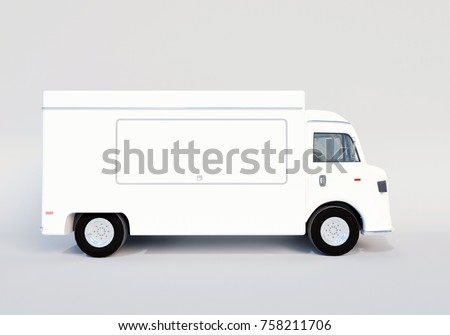3D illustration of food truck