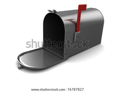 3d illustration of generic mailbox, over white background - stock photo