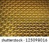 3D illustration of gold coins scale abstract background - stock photo