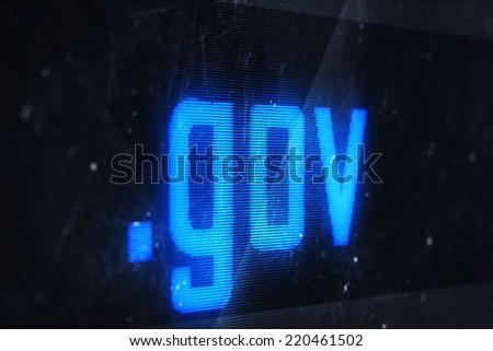 3d illustration of gov domain names and internet concept digital screen  - stock photo