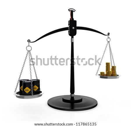 3D illustration of high price on oil concept