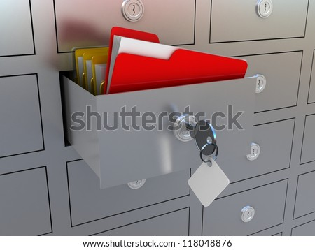 3d illustration of information search metaphor - stock photo
