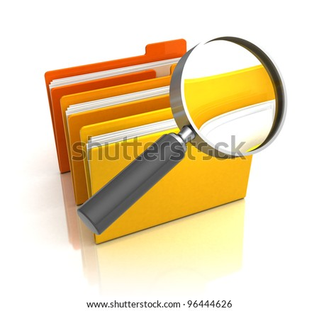 3d illustration of information searching concept - stock photo