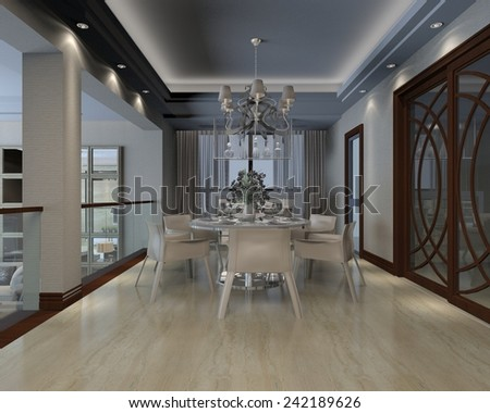 3D illustration of interior design